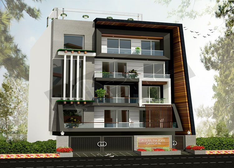 Front Elevation Cladding Design : Front elevation tiles in delhi for